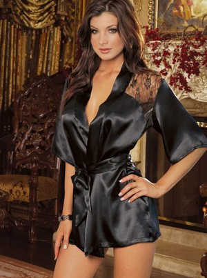 Plush Satin & Lace Robe 2