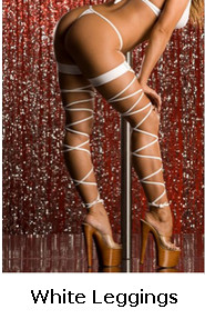 White Matte Full Flex Garters