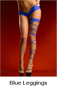Blue Matte Full Flex Garters