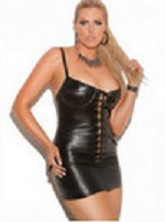 plus size leather dress